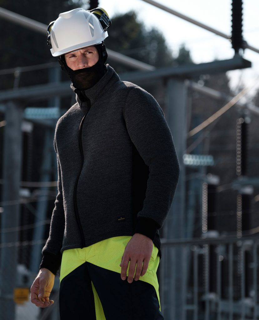Man Wearing Safety Clothing